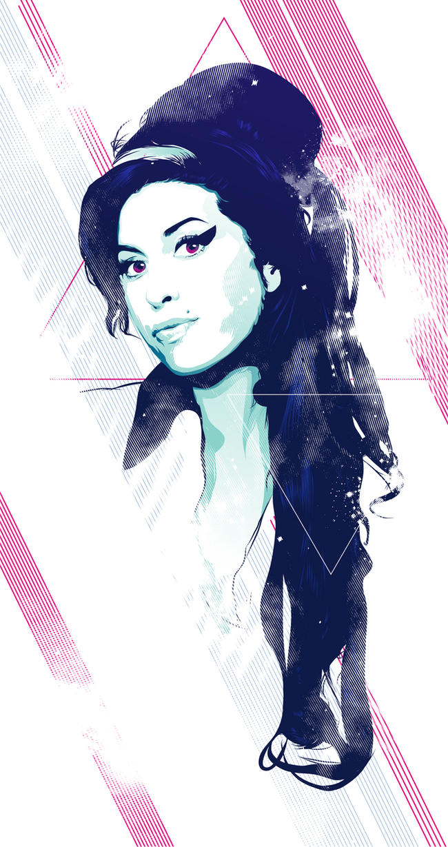Amy Winehouse  Vector tribute by Psycool