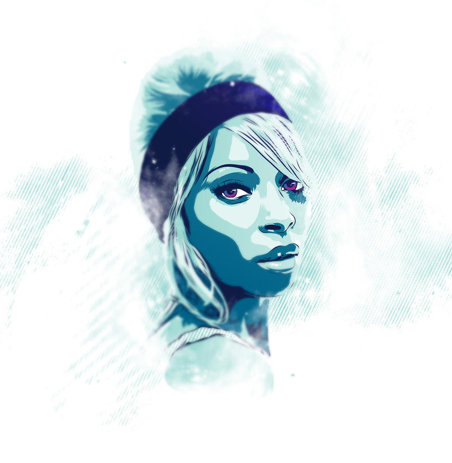 Mary J Blige Vector tribute by Psycool