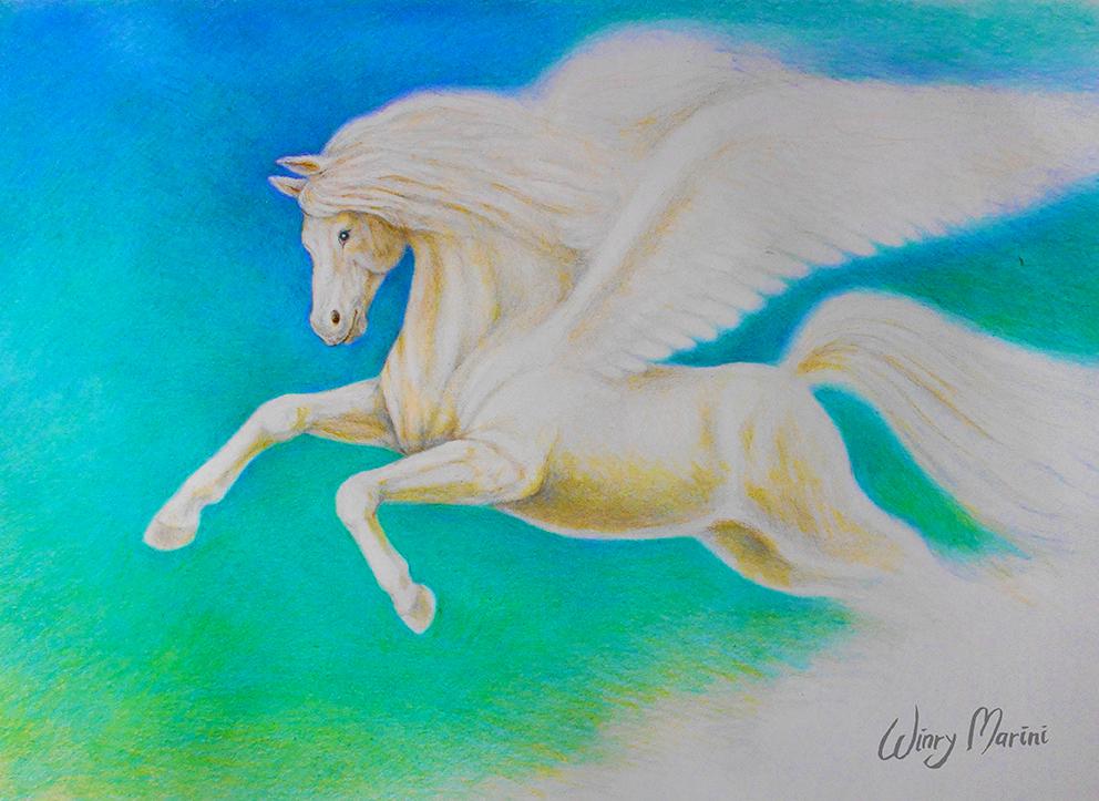 Flying Pegasus by winrymarini