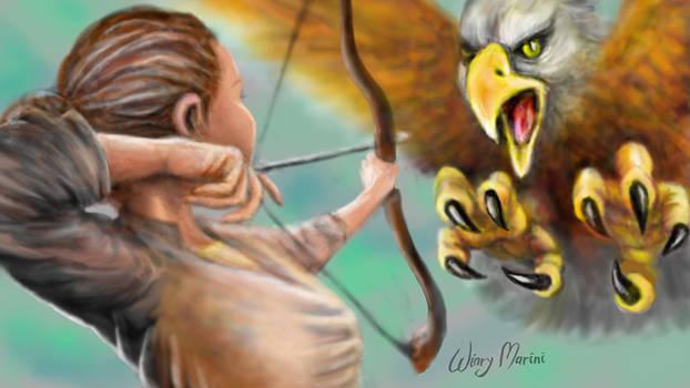 Hunter vs Giant Bird