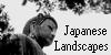 Japanese Landscapes Button by Menestrella