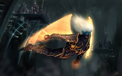 If Drow could fly... by Gaidenlight