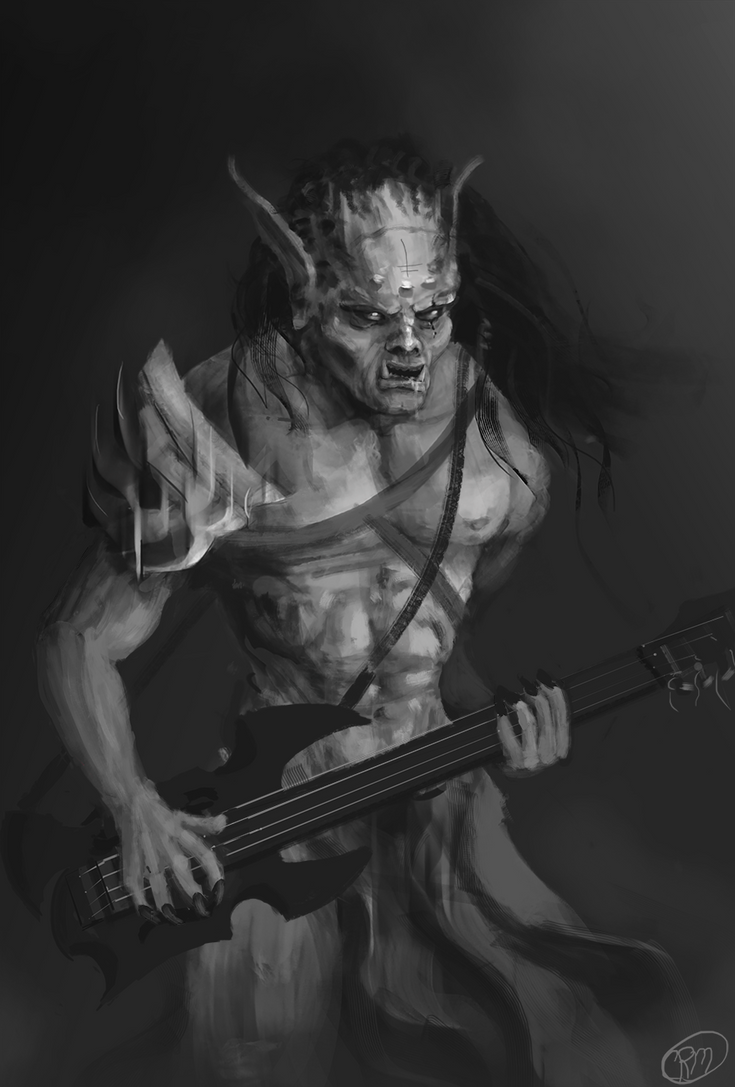 Orc Bass Player by Gaidenlight