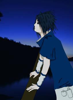 Sasuke Under The Night Sky