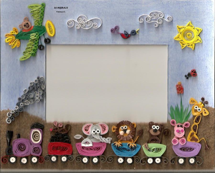 quilling picture frame by sombra33 on DeviantArt