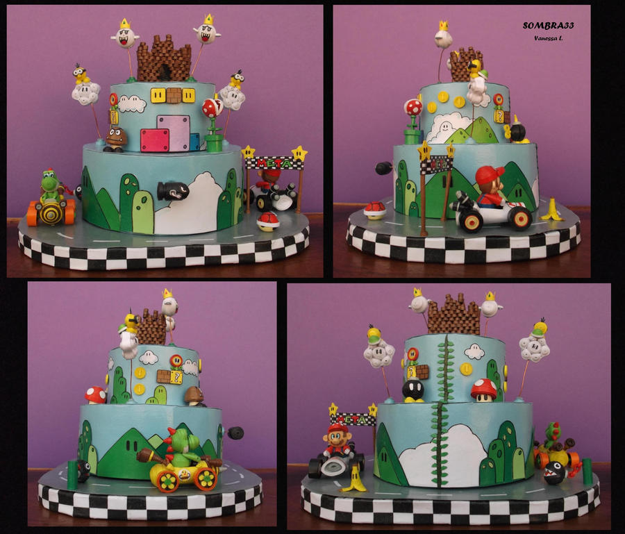 Mario cake of paper by sombra33