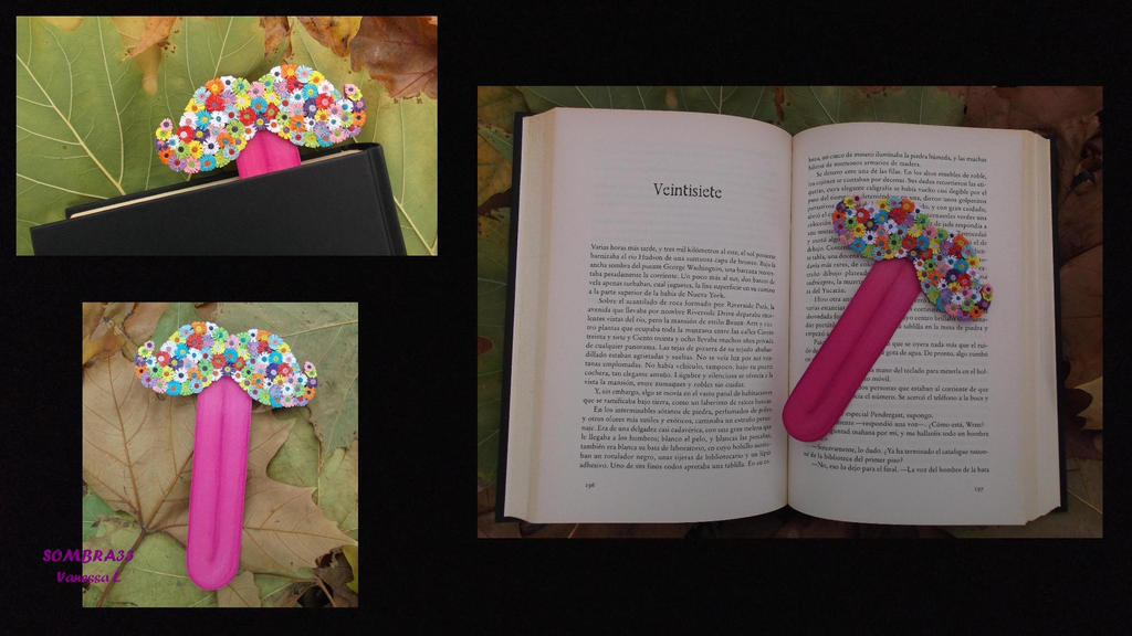 Moustache bookmark by sombra33