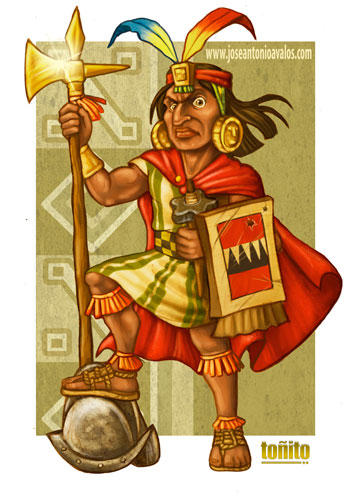 INCA WARRIOR WINNER CARICATURE