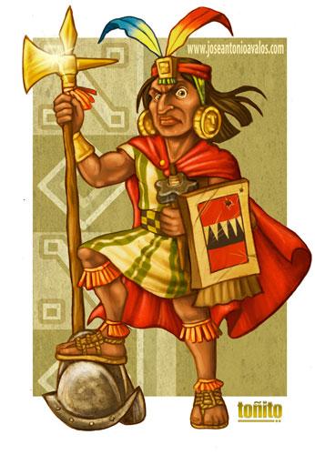INCA WARRIOR WINNER CARICATURE by TonhitoPeru