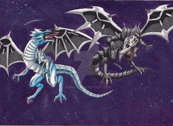 Finished! Malefic blue-eyes and malefic red-eyes by Nami-v ...