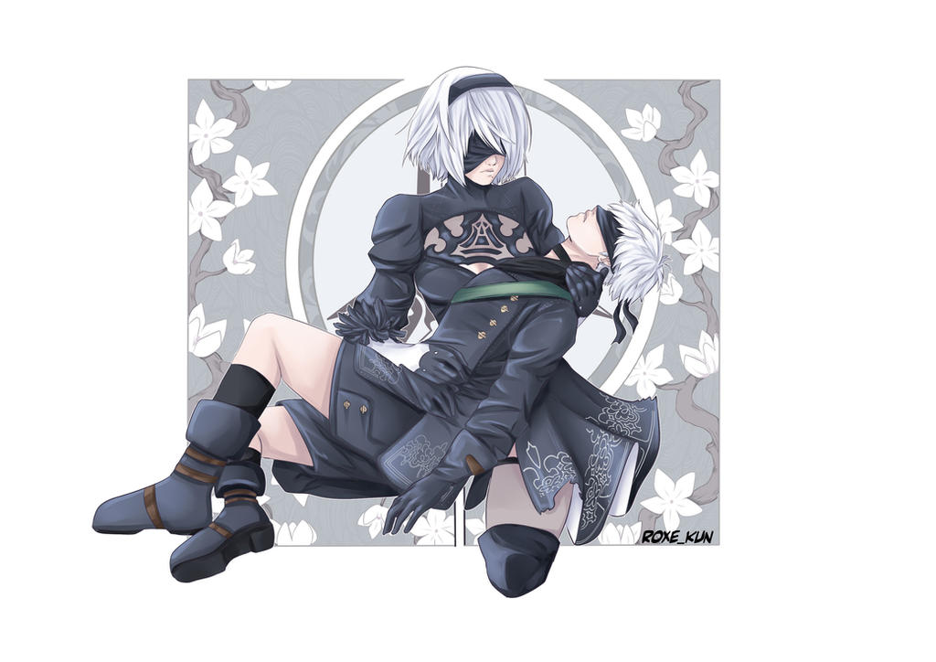 2b and 9s on nier automata deviantart. Black Bedroom Furniture Sets. Home Design Ideas