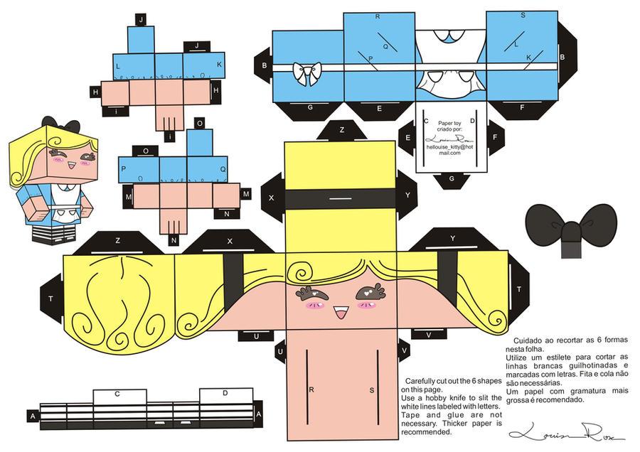 Muito PAPERCRAFT: BONECOS DE PAPEL EM 3D - Desenhos Para Colorir PY96
