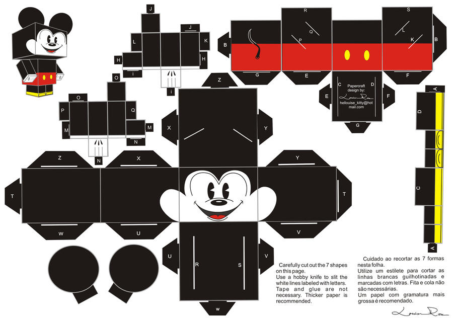 PaperCraft Mickey By Louise Rosa On DeviantArt