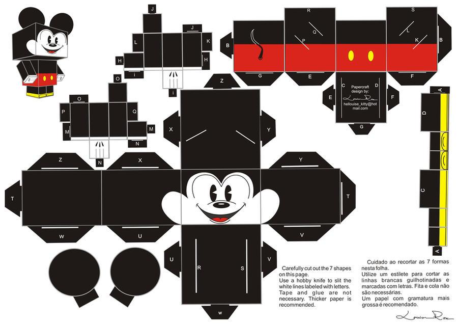Mickey Y Minnie Para Imprimir Gratis  Juguetes De Papel