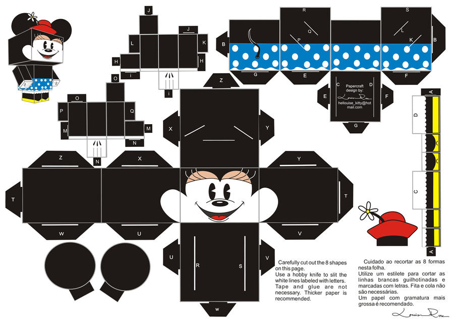 Mickey And Minnie Free Printable Boxes Paper Toys Is