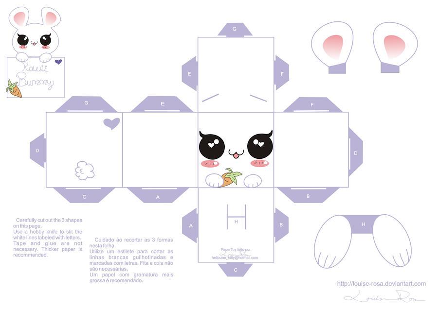 Papercraft Kawaii Bunny By Louise Rosa On Deviantart