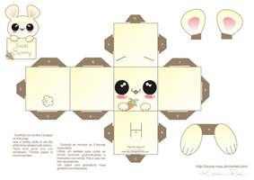 Papercraft Kawaii bunny 2 by Louise-Rosa
