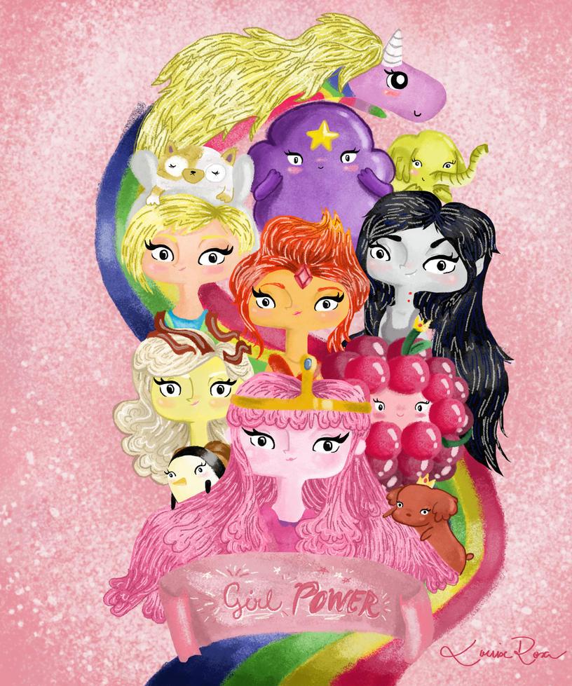 Princesas de Ooo by Louise-Rosa
