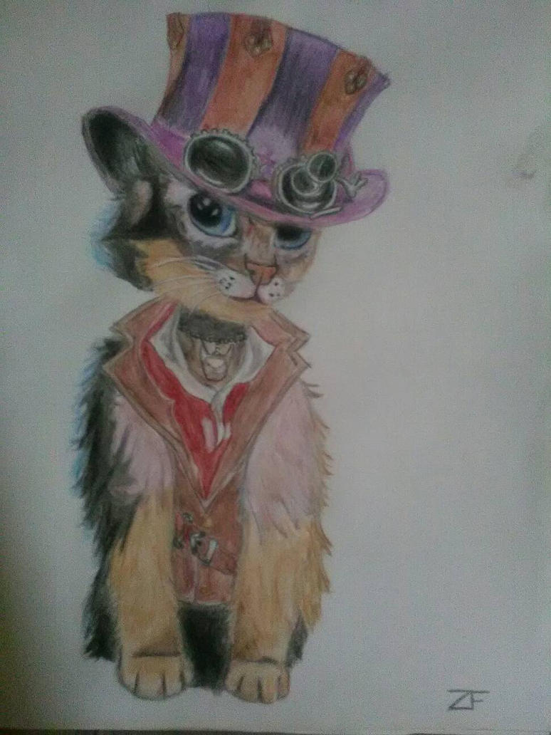 Chat Steampunk by Dyusse
