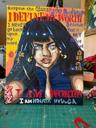 Hinata Hyuuga Duct Tape Painting