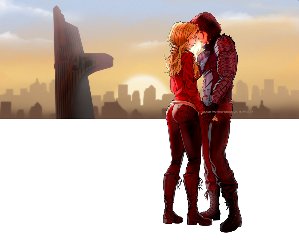 PP Commission : Bucky and Emma by Black-pantheress