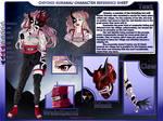 Naruto ref.sheet commission : Chiyoko Kurama by Heisedebao