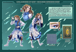 Ref.sheet commission : Leah, Daughter of Light