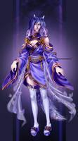 Kin Velet in Purple butterfly dress
