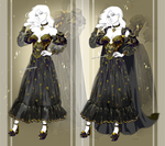 [OPEN OUTFIT AUCTION] : Gold and black dress by Heisedebao