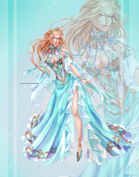 [CLOSED OUTFIT AUCTION] : Blue-gold dress