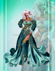 [CLOSED OUTFIT AUCTION]: Blue and green dress by Heisedebao