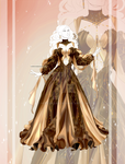 [CLOSED OUTFIT AUCTION]: Chocolate golden dress by Heisedebao