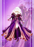 [CLOSED OUTFIT AUCTION] : Royal purple dress by Heisedebao