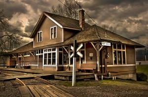 The Old Station by Violet-Kleinert