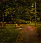 Evening in the Park by Violet-Kleinert