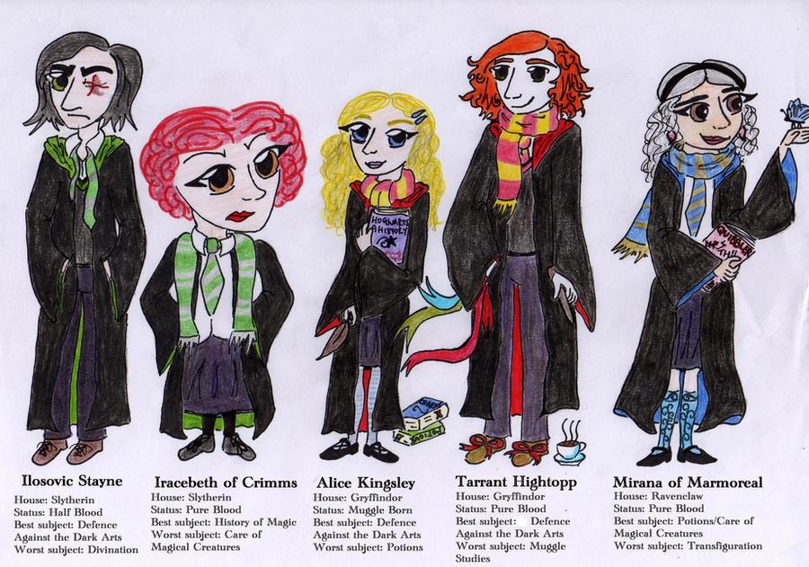 Wonderlanders at Hogwarts by wickedwitchofwestend