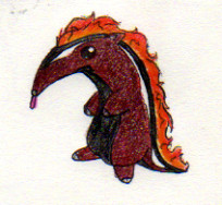 ANTEATER ON FIRE by sonicbommer