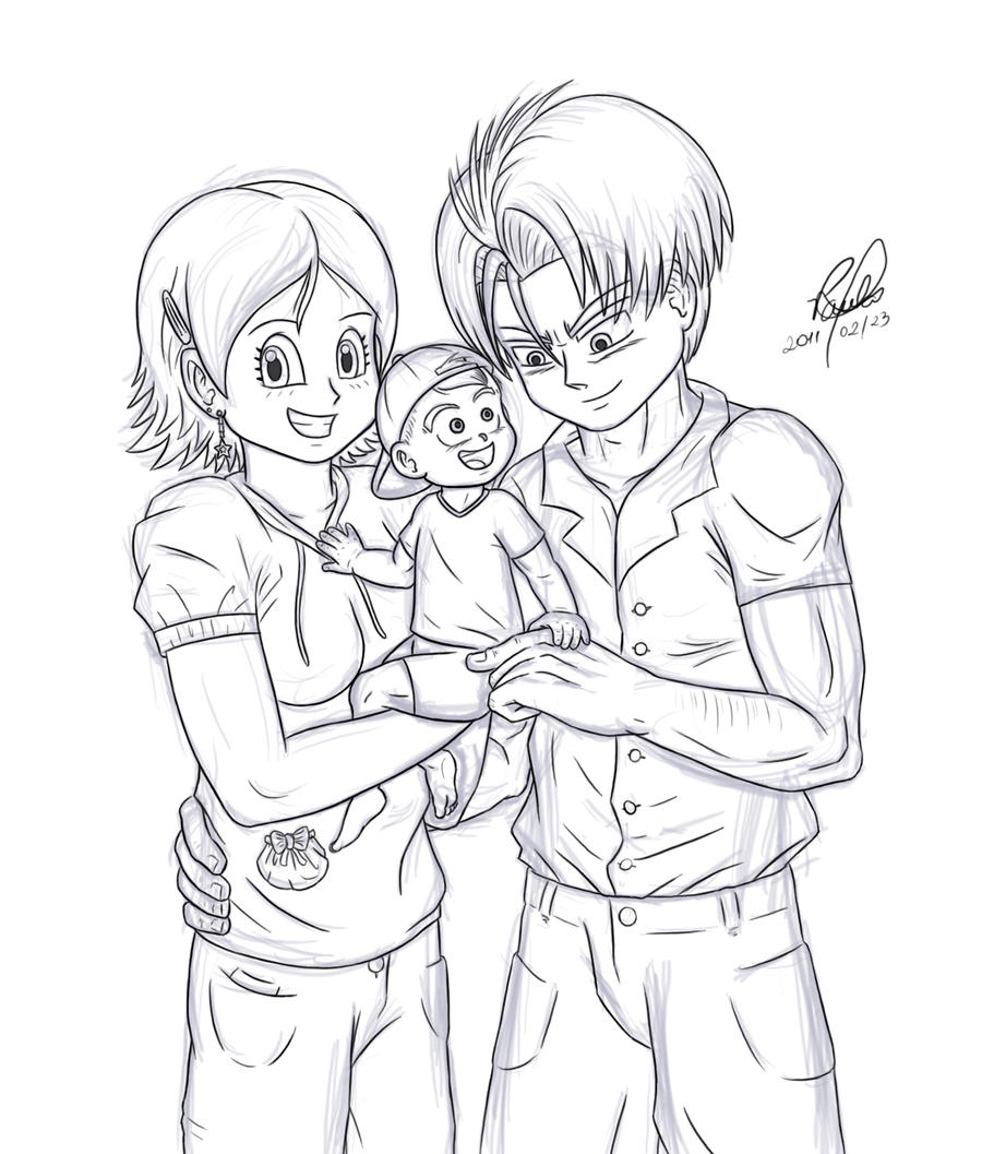 SKETCH: Happy Young Family by 13paulis on DeviantArt