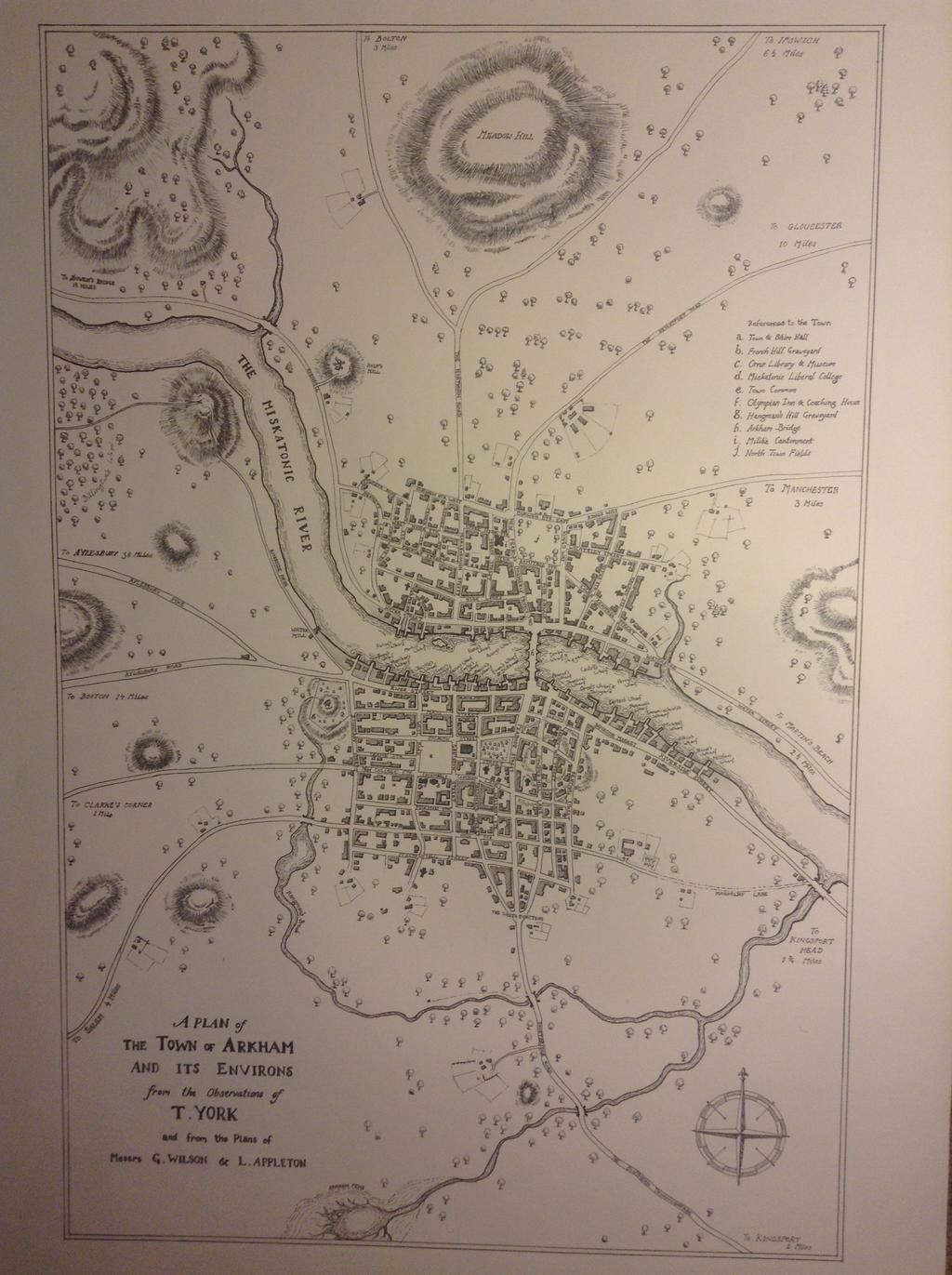 Map of Arkham Massachusetts 1775