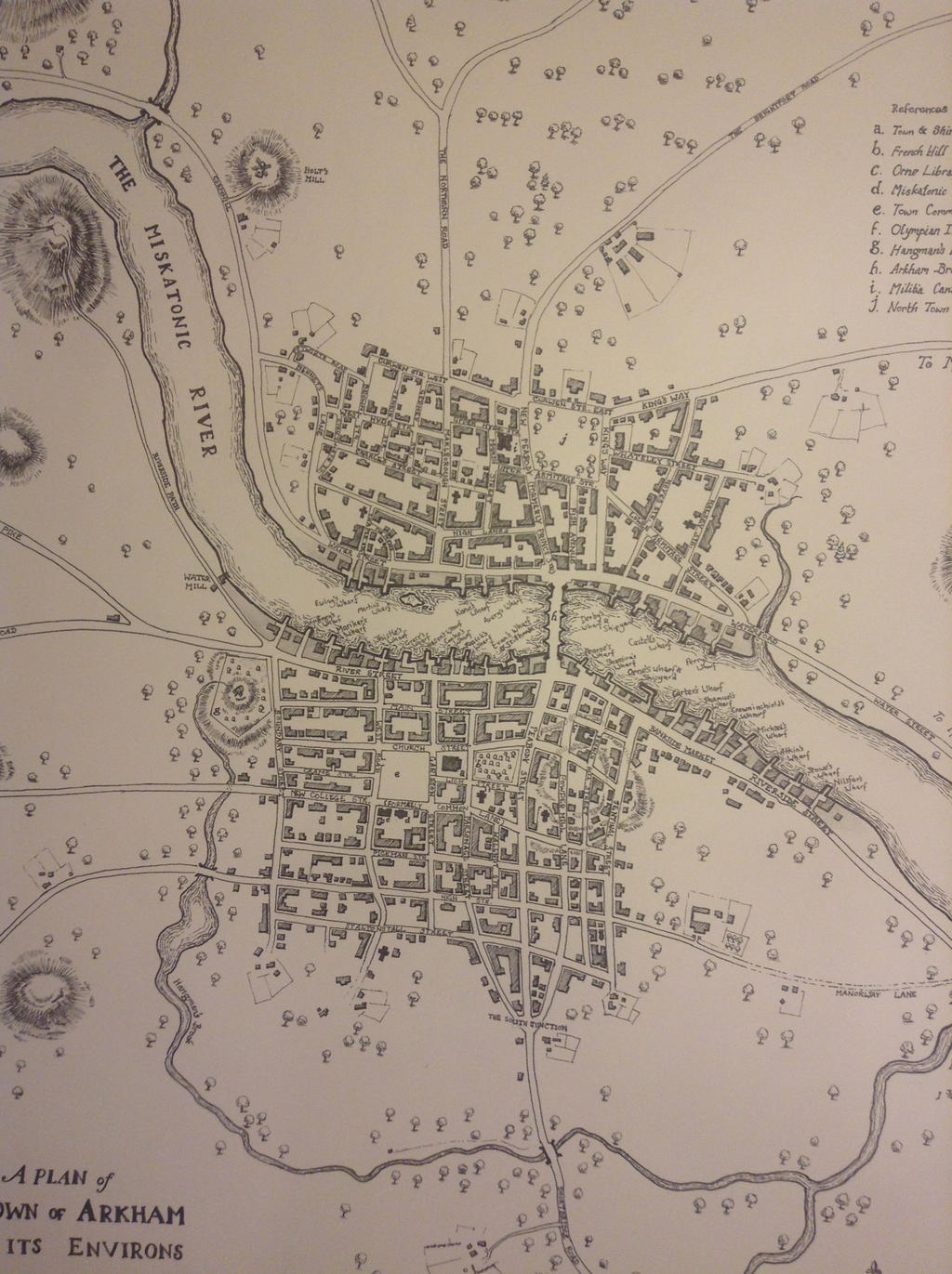 Detail of Map of Arkham Massachusetts 1775