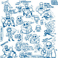 Escapetale sketchdump by Shadehedgie77