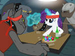 Don't give Rarity Absinthe.