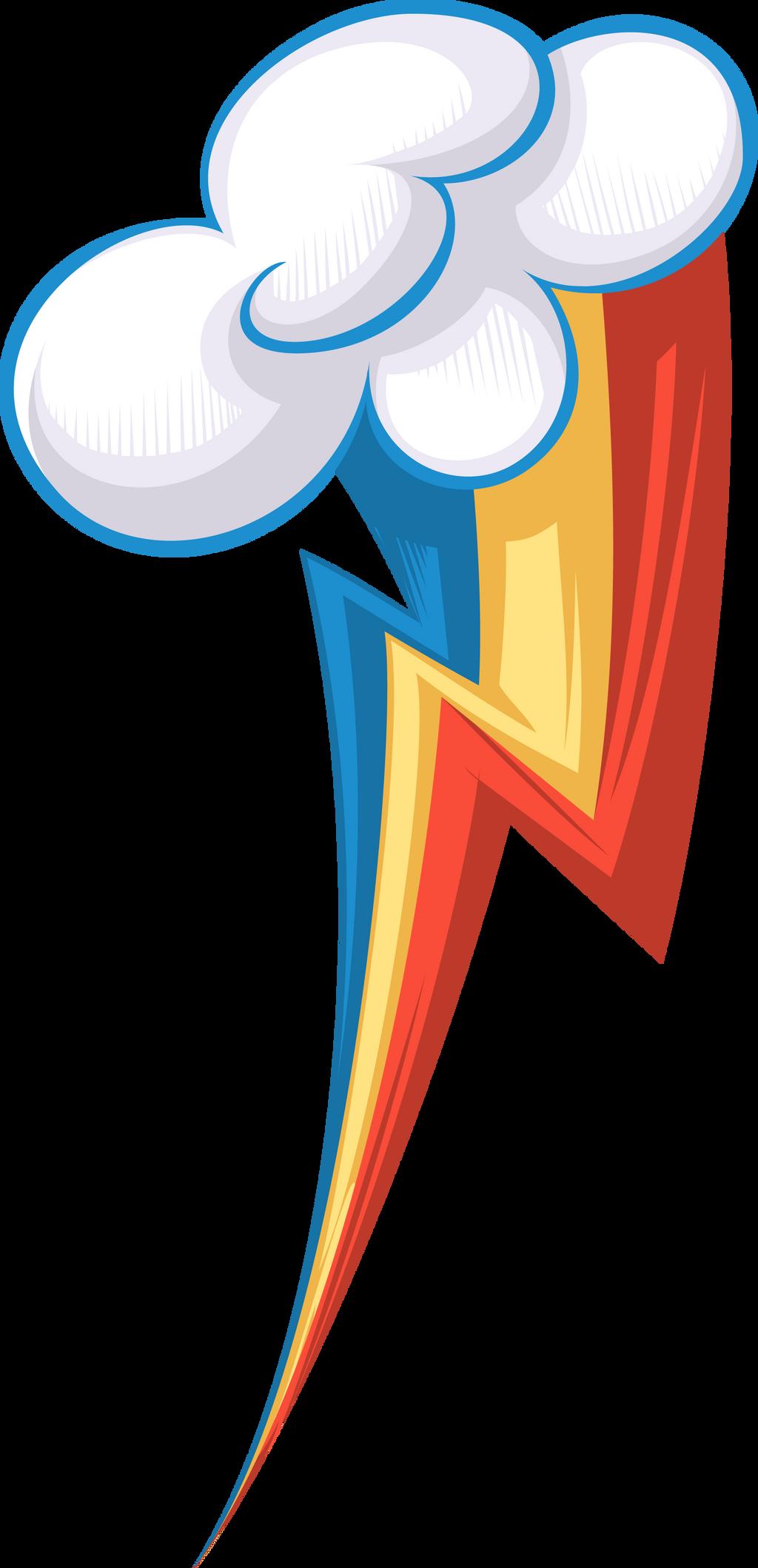Rainbow Dash's cutie mark, restyled! by SpokestheBrony on ...