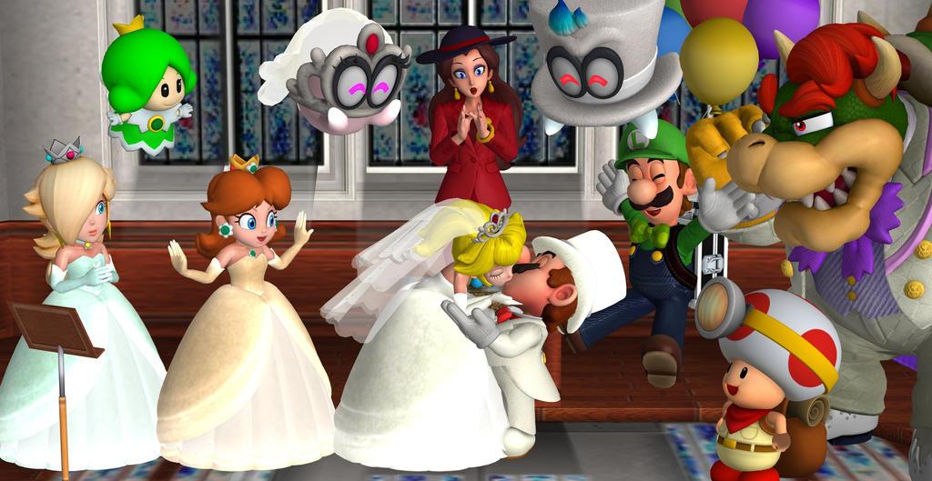 Mario and Peachs Wedding by mariosonic08 on DeviantArt