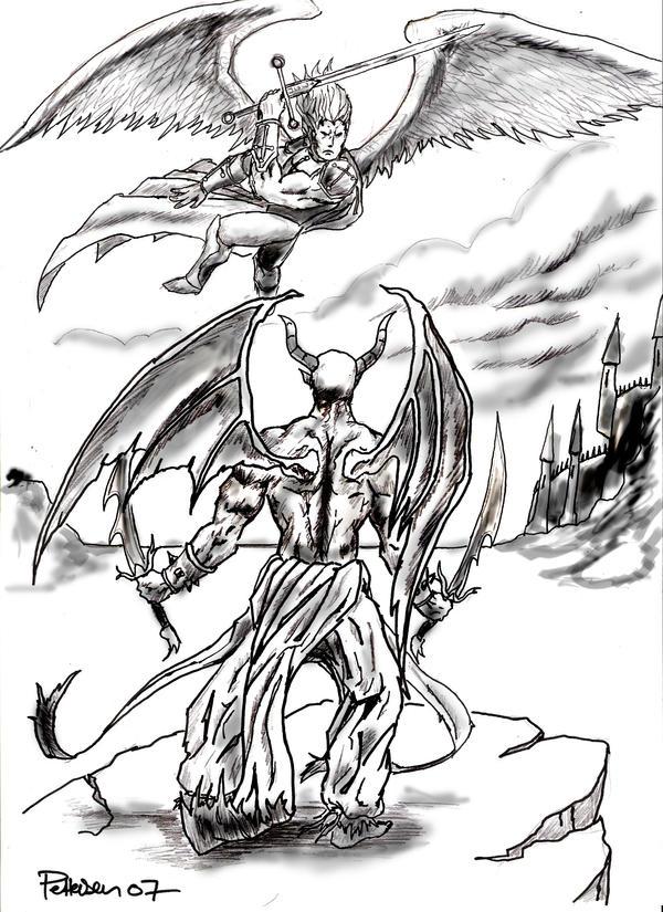 angel and demons drawings - photo #5