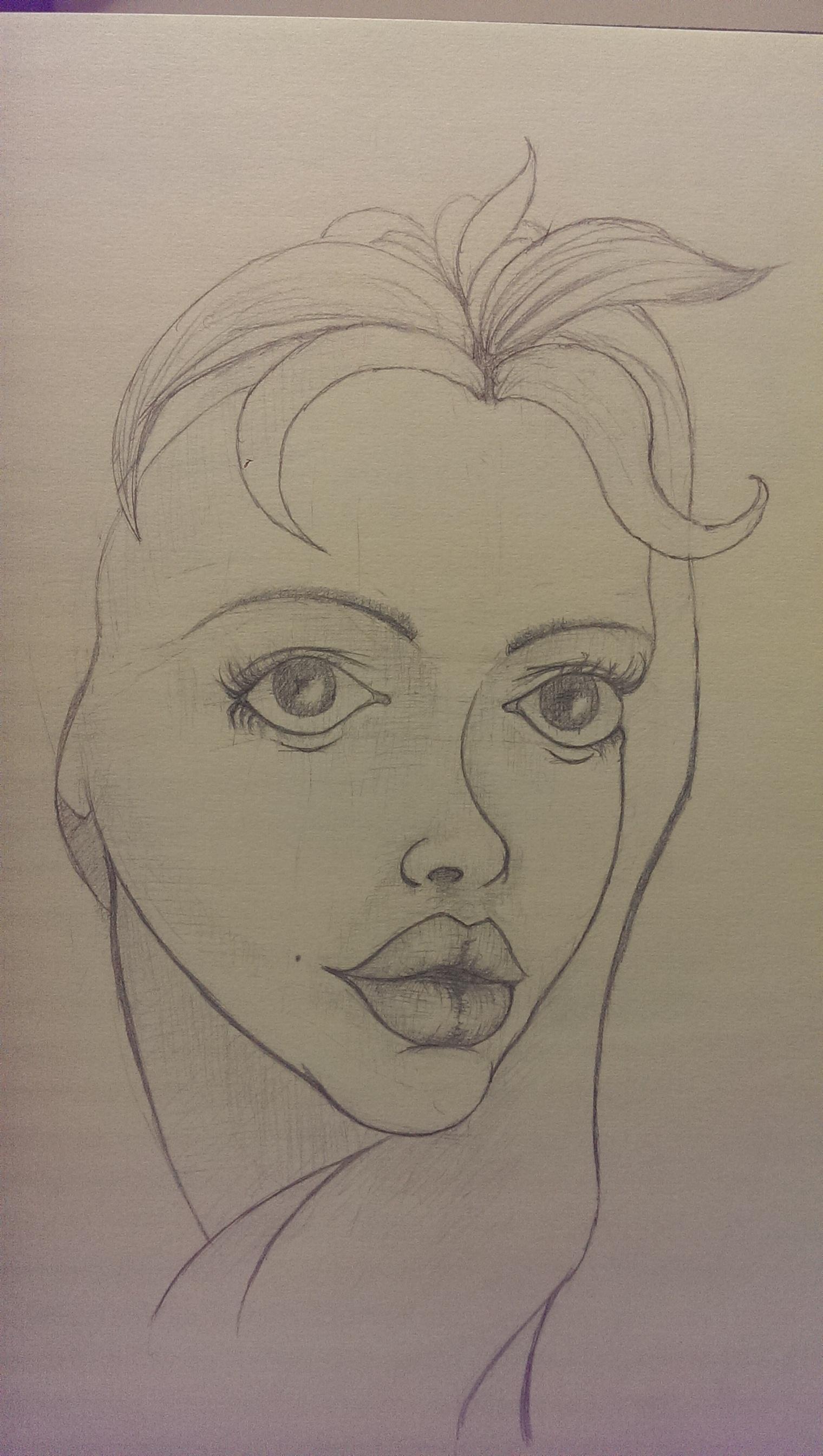 Cute Girl Sketch by afaq125