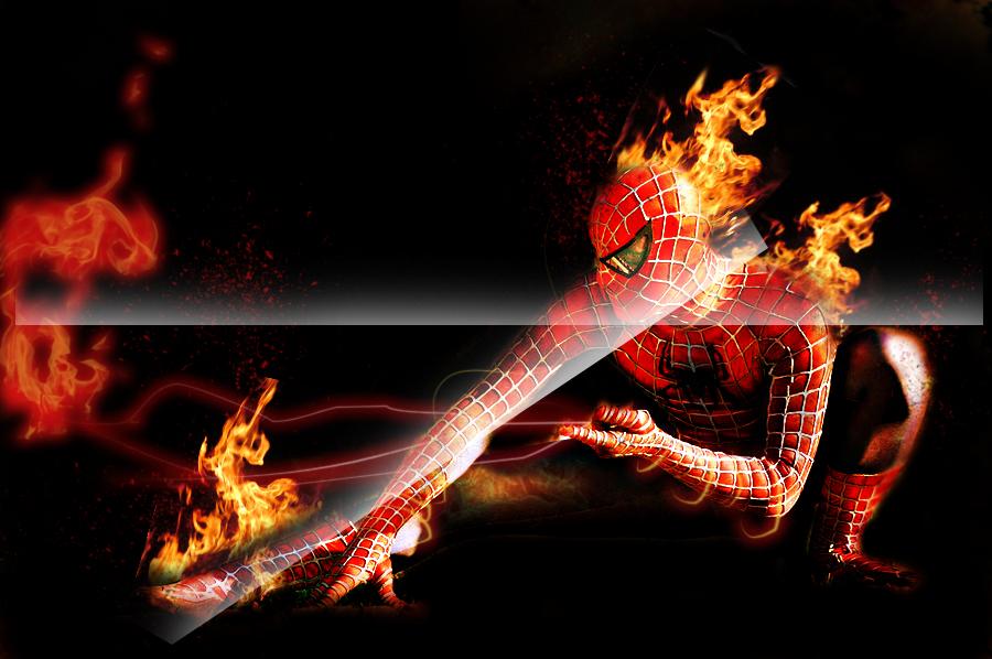 spiderman on fire by TJHooper on deviantART