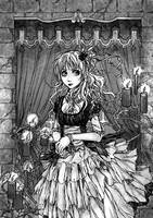 Vampire lady by Selequiel