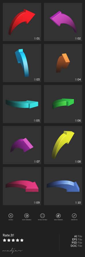 3D Arrow Brushes + Vectors