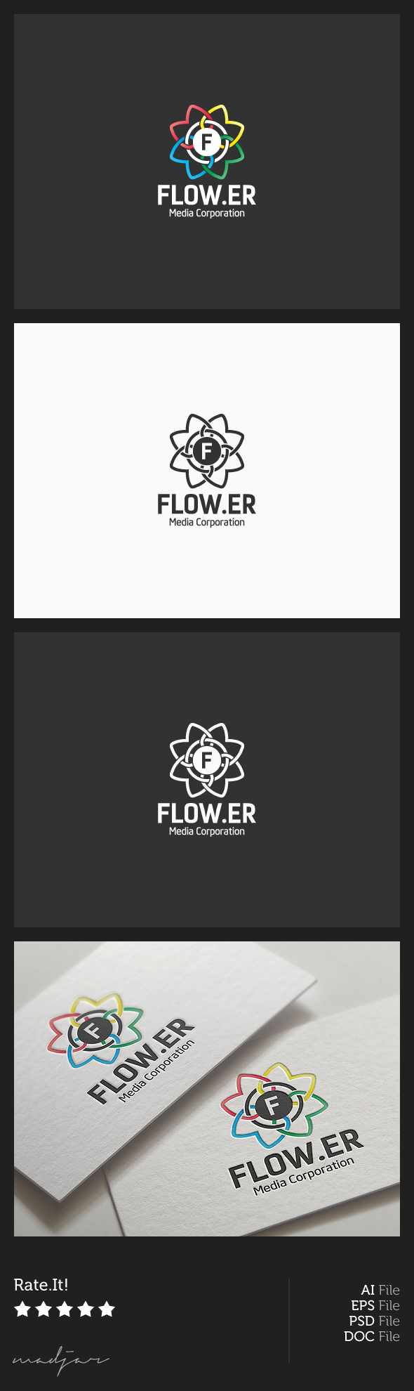 Flower Logo by madjarov